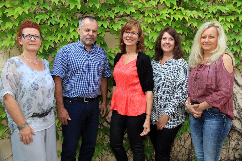 Frau Lendner, Herr Friedel, Frau Leicht, Frau Fiedler, Frau Grampp