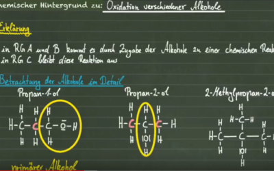 Oxidation verschiedener Alkohole