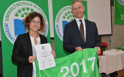 Das DG wird zum 16. Mal in Folge Umweltschule in Europa!