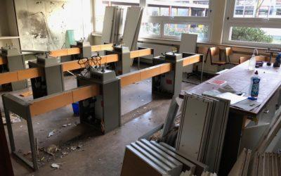 Modernisierung der Chemieräume in vollem Gange!