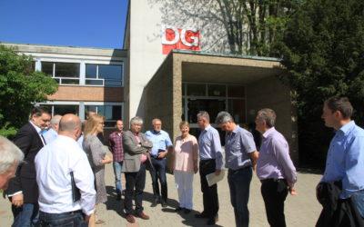 CSU-Kreistagsfraktion mit Landrat Johann Kalb besucht DG
