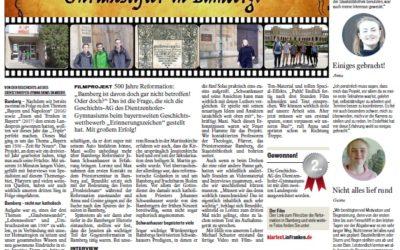 Schüler/innen gestalten Zeitungsseite zu Filmprojekt