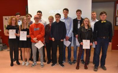 Prämierung der besten Seminararbeiten des Abiturjahrgangs 2019