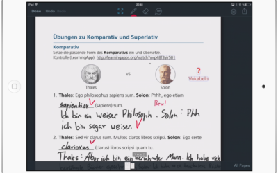 Individuelles Feedback mit Showbie