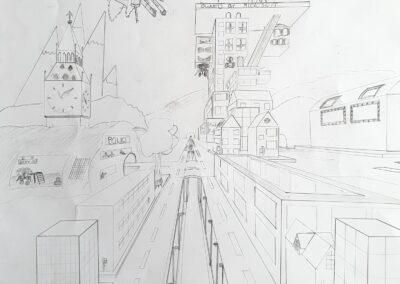 Futuristische Stadt, Lukas Maschlinkski, 8a