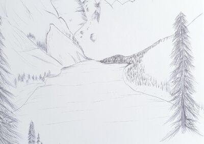 Grrafische Landschaft, Stephanie Wilhelm, 10a