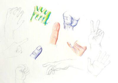 Handstudie, Nina Dorbath, Q11