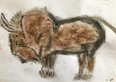 Steinzeit, Naturfarbenexperiment, Lino Köcheler, 5f