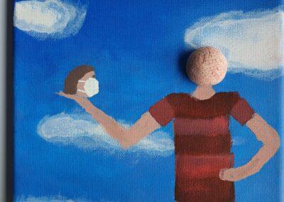 #Surrealismus#Selbstporträt#Vanitas, Simon Dörfler, Q11